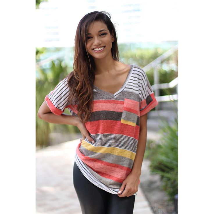 Find More T-Shirts Information about 2017 Women Casual Loose V Neck Short Sleeve T Shirt Stripped Pocket Shirts Female Patchwork Tops,High Quality patchwork top,China pocket shirt Suppliers, Cheap t shirt from malenna Store on Aliexpress.com