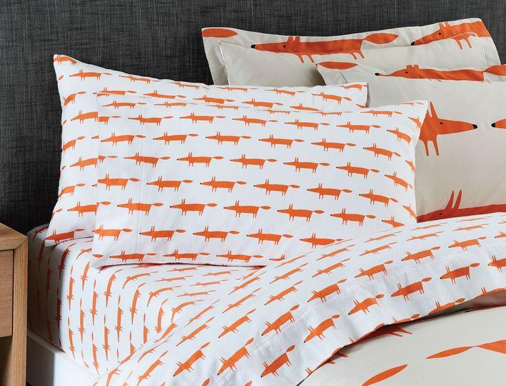 Mr Fox Flannelette Sheet Set