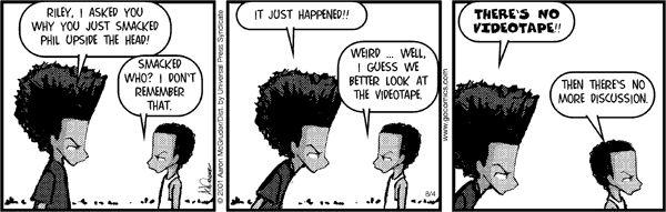 The Boondocks Comic Strip, March 07, 2014 on GoComics.com