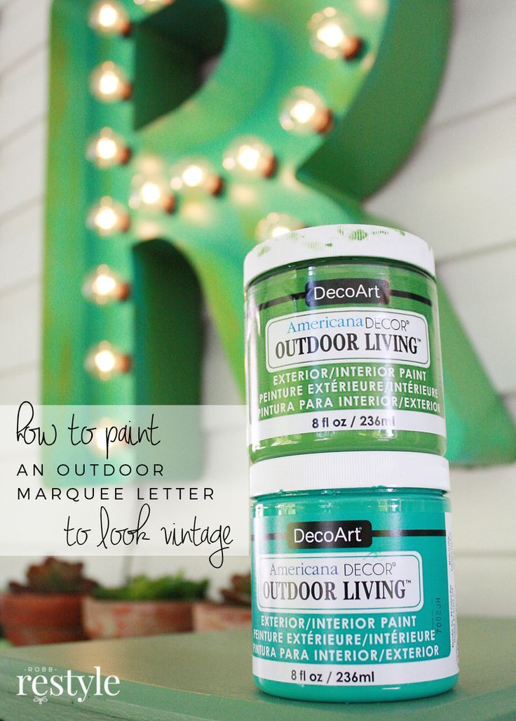 DIY Marquee Letter Porch Decor My Repurposed LIfe and Friends