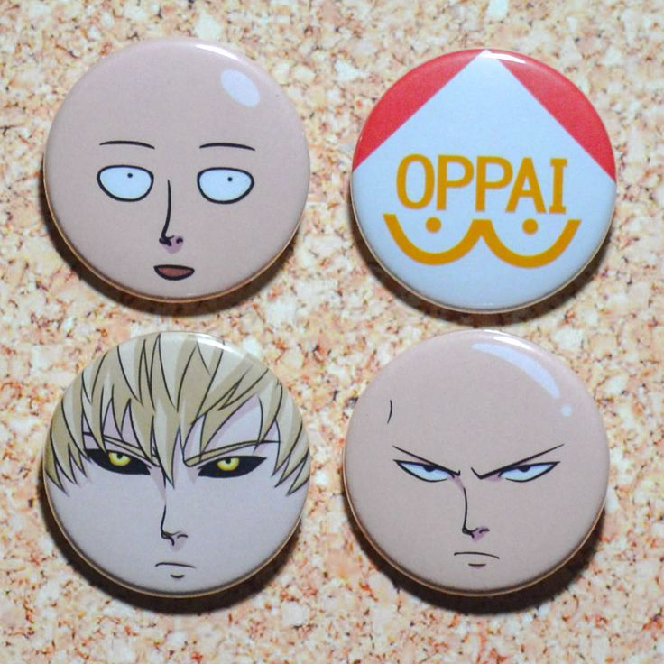 ONE PUNCH MAN PINS! #oppai #opm #onepunchman Pinback buttons make great party favors!!
