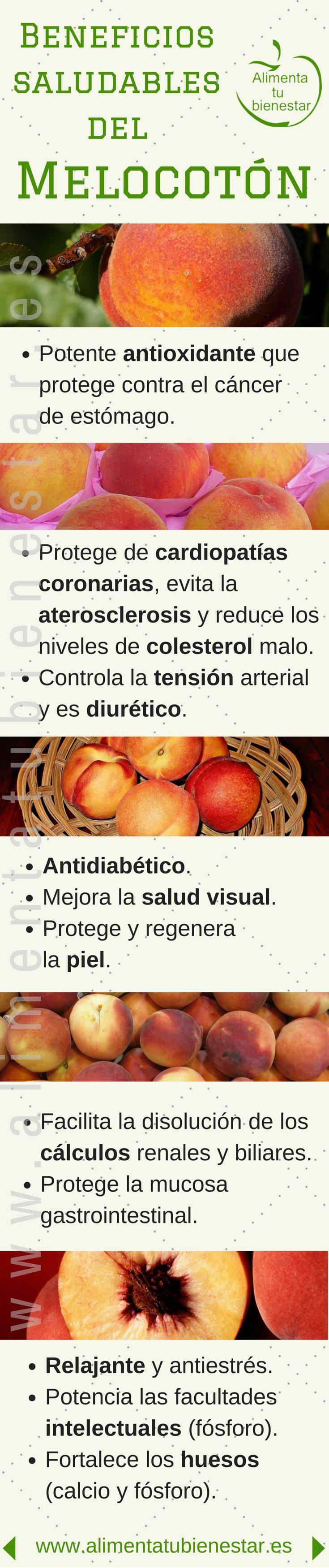 Beneficios para la salud de los melocotones #alimentatubienestar
