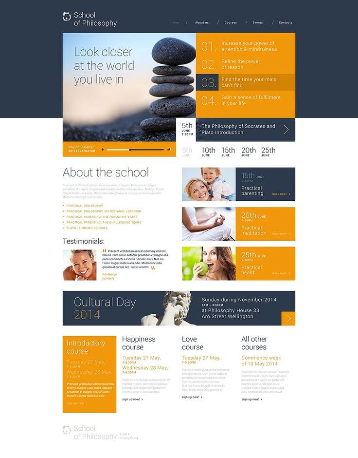 12+ Best High School, College & University WordPress Themes - School of Philosophy (template) Item Picture