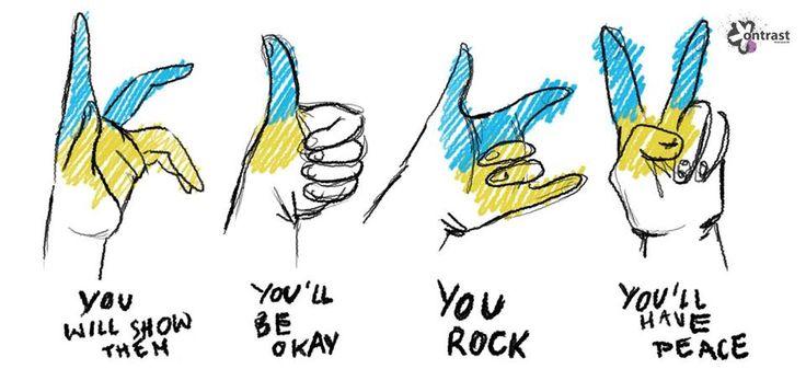 You'll have peace, Ukraine.   Author: Ewa Rogalska.