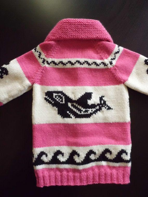 Children's Sweater Pure Wool Cowichan Style Custom by saintpierre