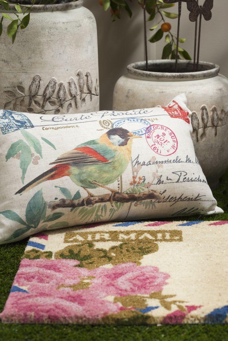 French Garden cushion. www.madraslink.com.au