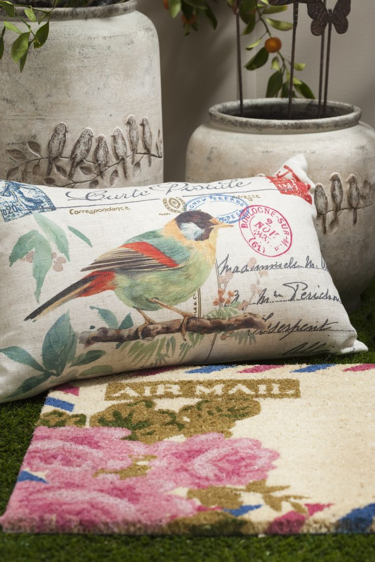 French Garden cushion. www.madraslink.com.au