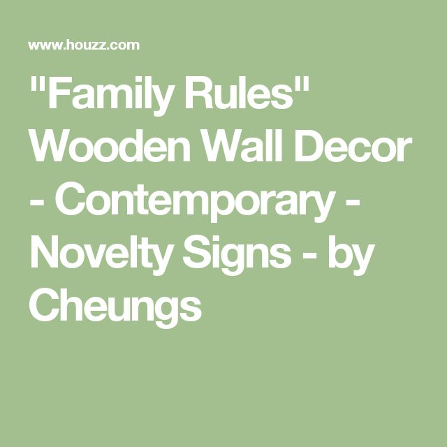 """""""Family Rules"""" Wooden Wall Decor - Contemporary - Novelty Signs - by Cheungs"""