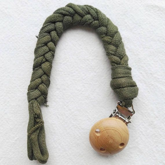 Cotton braided soother clip pacifier clip