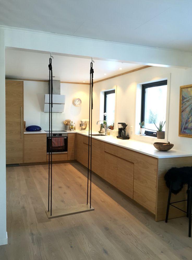Studio10 fronter + IKEA skrog = sant #ikea #kjøkken #eik #corian # ...