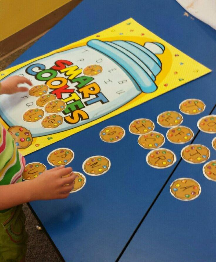 Preschool Bakery Theme. Letter Match Activity.