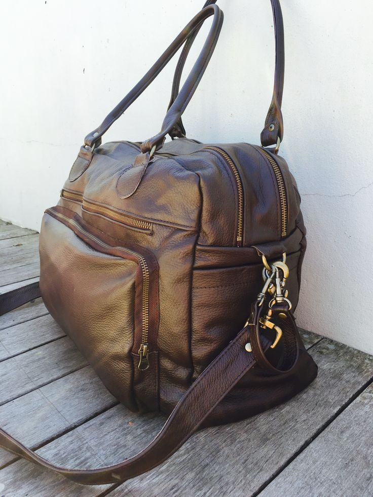 Wild and Free South Africa travel bag , Genuine Leather