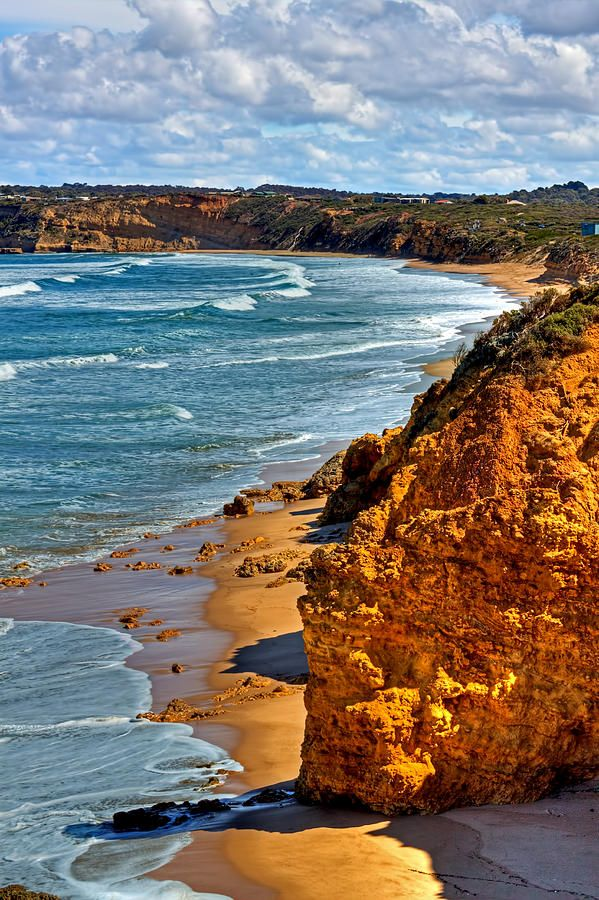 Torquay beach in Australia. This beach is close to Bells Beach where they hold the Rip Curl Pro each year at Easter.