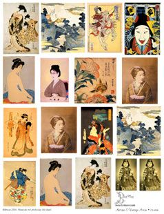 Antique Asian Collage Sheets