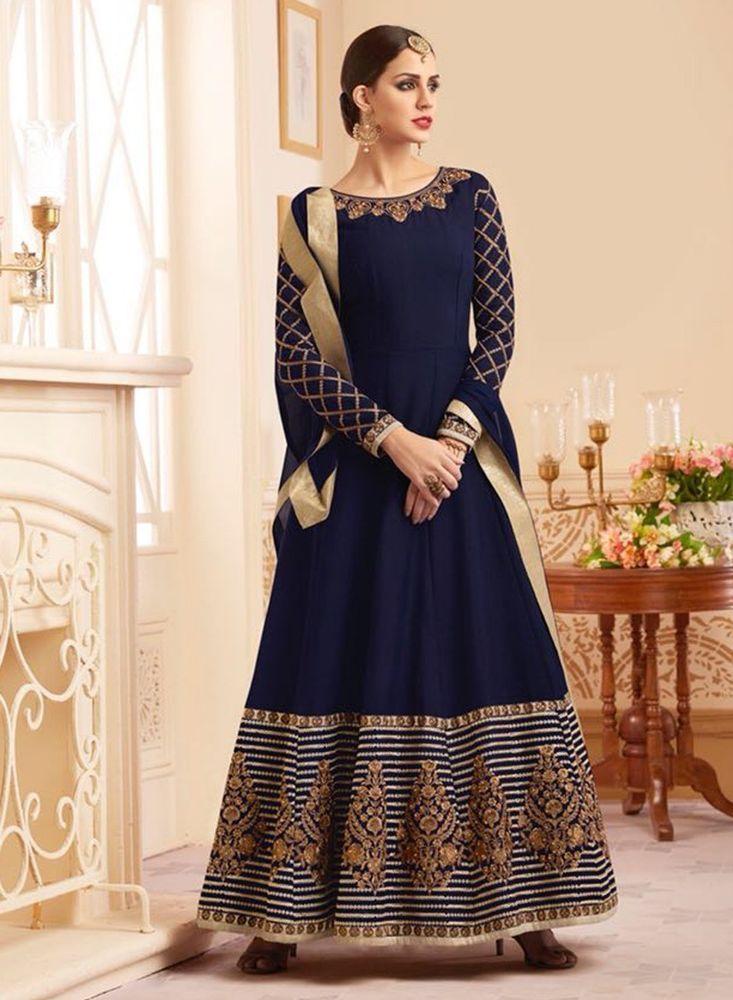 98aa4e2e47 Indian Bollywood Pakistani Ethnic Salwar Kameez Wedding Designer Anarkali LF