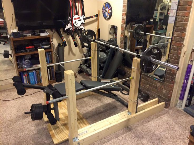 12 best images about wooden squat rack on pinterest for How to make a homemade squat rack