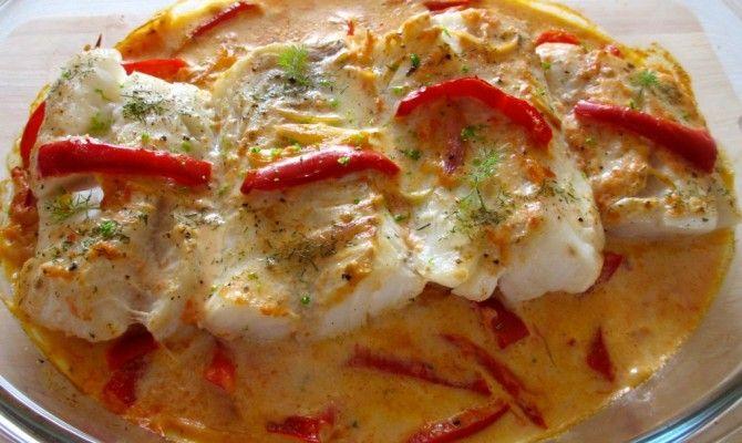 Dos de cabillaud et sa sauce poivronnée : Diet & Délices - Recettes dietétiques