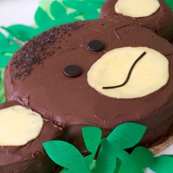Apekake - http://www.dansukker.no/no/oppskrifter/apekake.aspx #barneselskap #kake #oppskrift