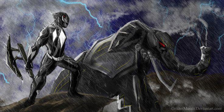 Black power ranger fan art by goldenmurals.deviantart.com on @deviantART