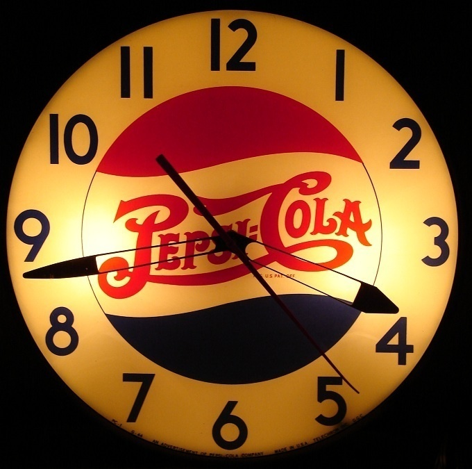 40 S Vintage Pepsi Cola Clock Retro Clocks Pinterest