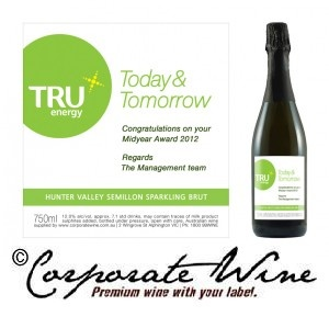 A Customised Label we created for an energy company, used for wine gifts fo their award-winners.