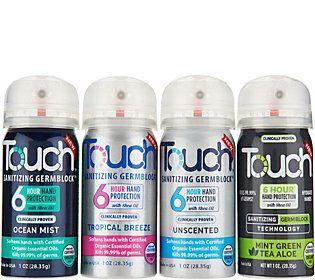 Touch S 4 Hand Sanitizing Germblock Sanitizer Coconut Oil Jar