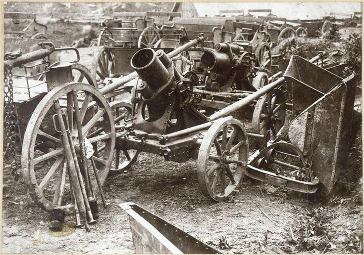 Trophées de guerre (canons, lance-mines et mortiers)
