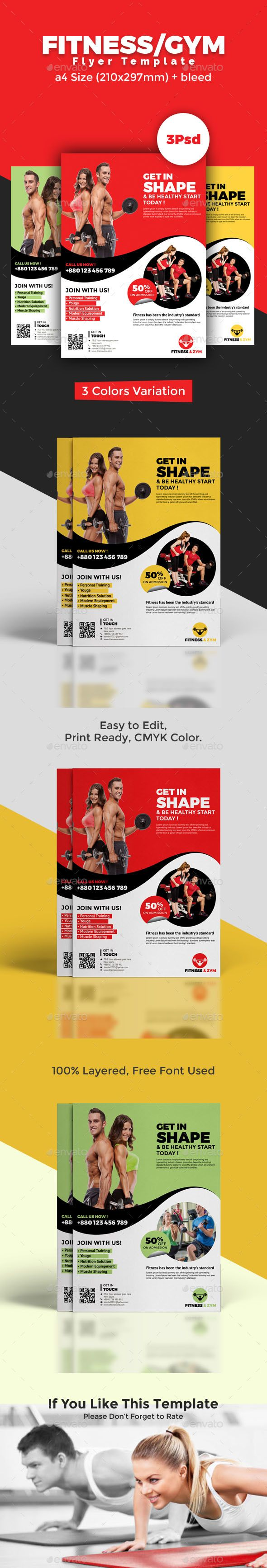 #Fitness/Zym #Flyer - Sports Events
