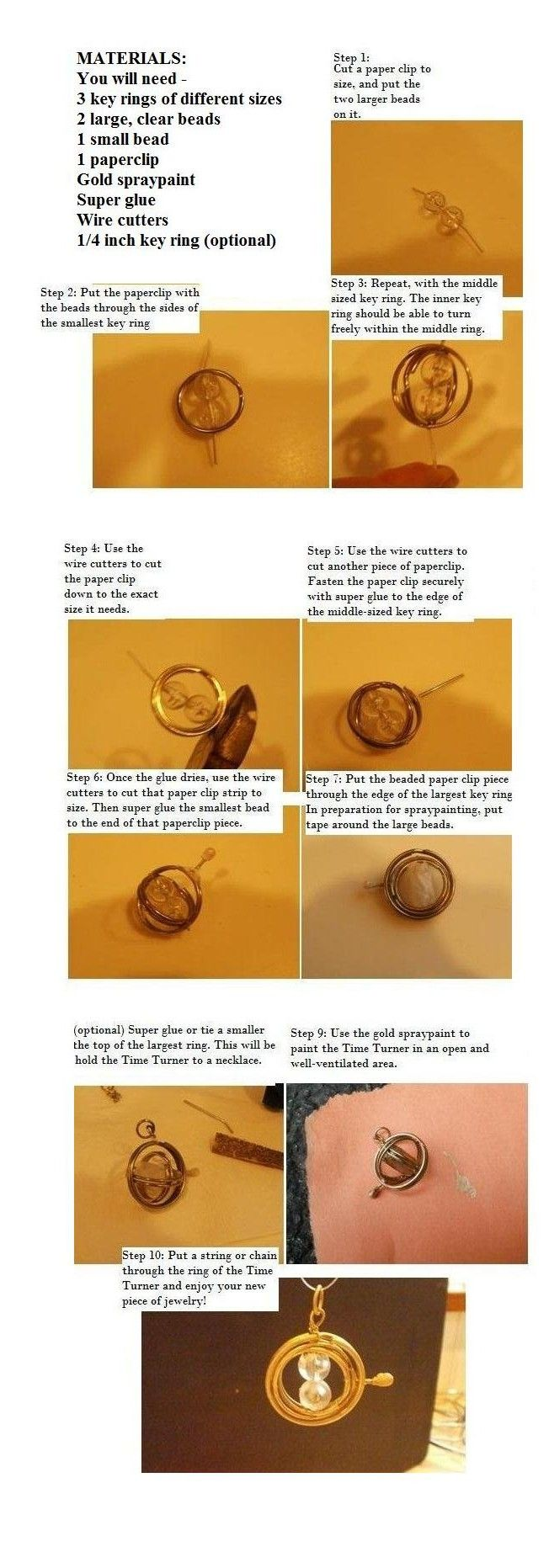 How to make a Time-Turner by FromWinterToSpring.deviantart.com on @deviantART