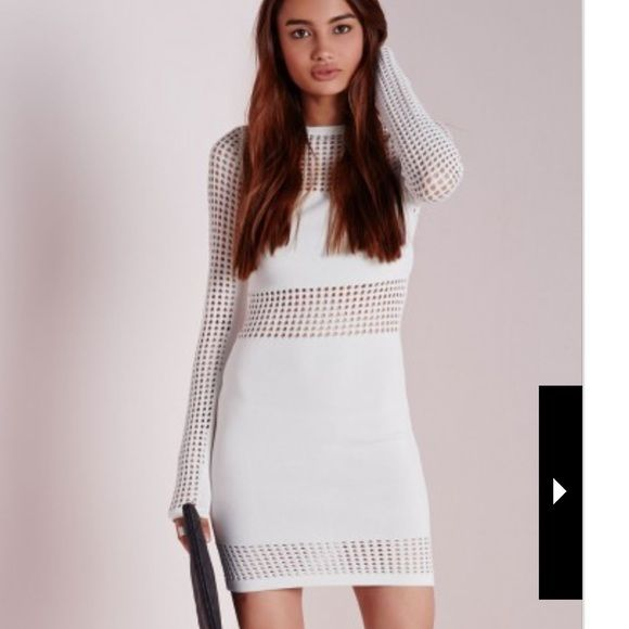 Missguided white dress size 2 This is so hot! Size US 2 AUS 6 worn once! Missguided Dresses Mini