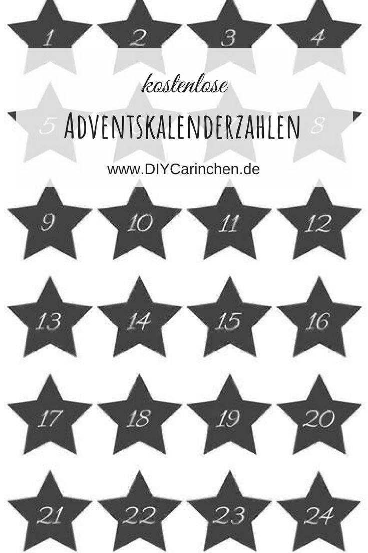 Diy Kostenlose Adventskalender Zahlen Als Pdf Zum Ausdrucken Mein