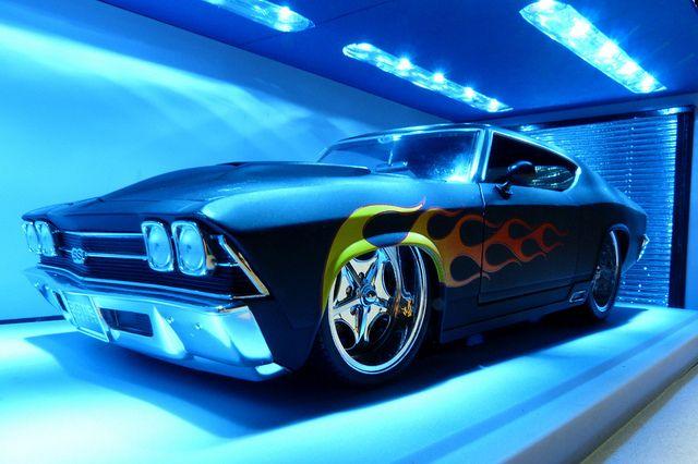1969 Chevrolet Chevelle SS Custom Muscle Car. Looks like hot wheels.
