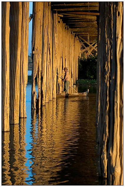 Under U-Bein Bridge, Amarapura, Myanmar Copyright: Darren Melrose