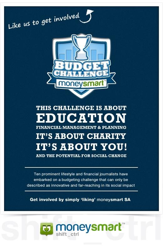 facbook.com/moneysmartsa Like page Budget Challenge presented by moneysmart