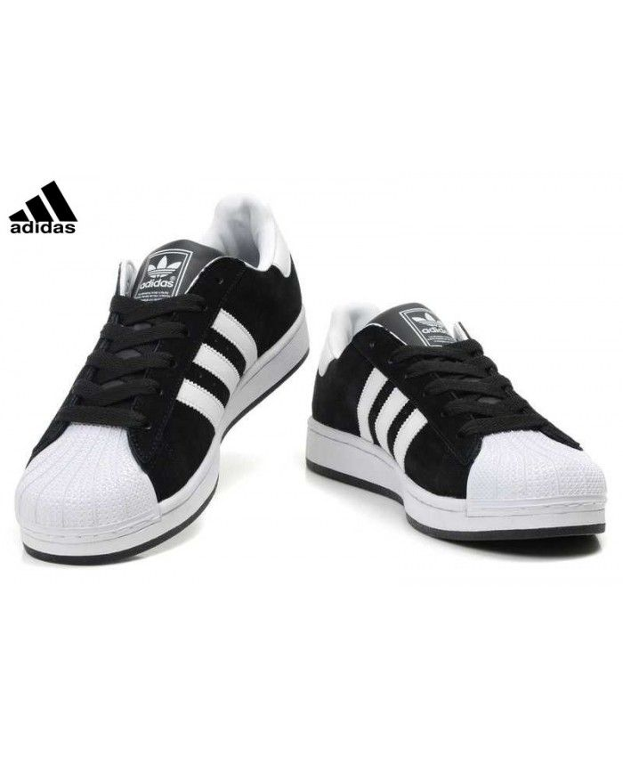 Buy Cheap Adidas Superstar Mens Black Sale UK T-1109