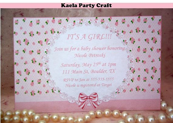 Floral baby shower invitation #floralbabyshowerideas #floralbabyshowerinvitation #floralbabyshower