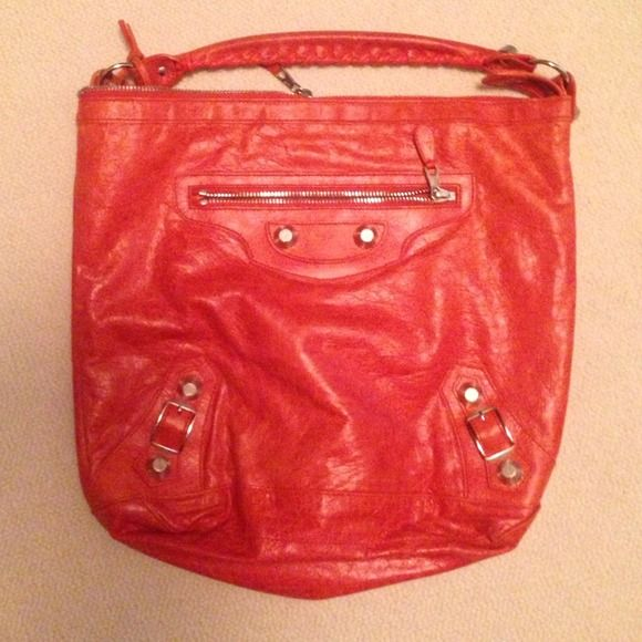 Balenciaga Handbag Beautiful Orange balenciaga handbag, used once. Moving to another country! :( Balenciaga Bags