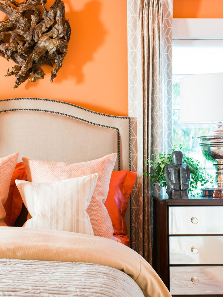 dream home 2016 guest bedroom - Orange Bedroom 2016