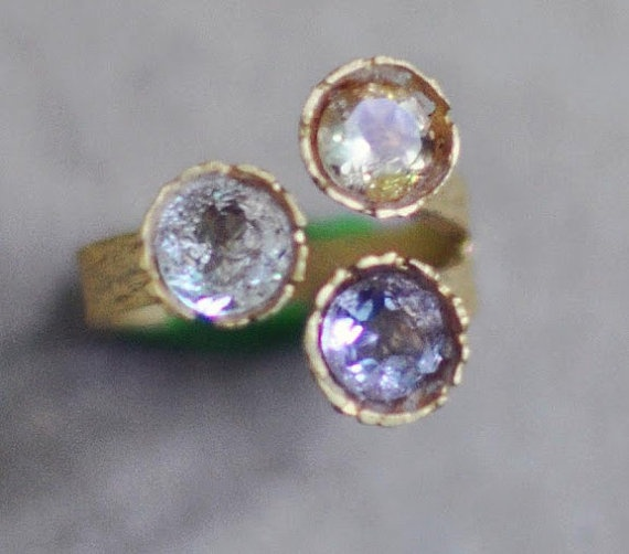 faceted stones #gemstone   #ring