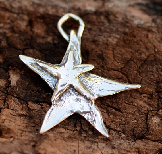 Artisan Reach for the Stars Sterling Silver Charm by cathydailey