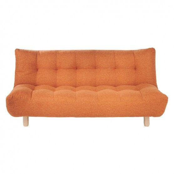 Kota Orange Fabric 2 Seater Sofa Bed