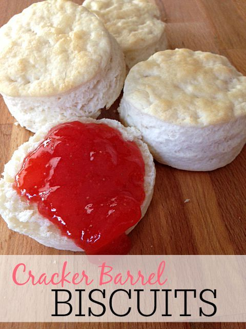 Looking for an easy biscuit recipe? These biscuits are so easy to make and taste just like the Cracker Barrel Biscuits.