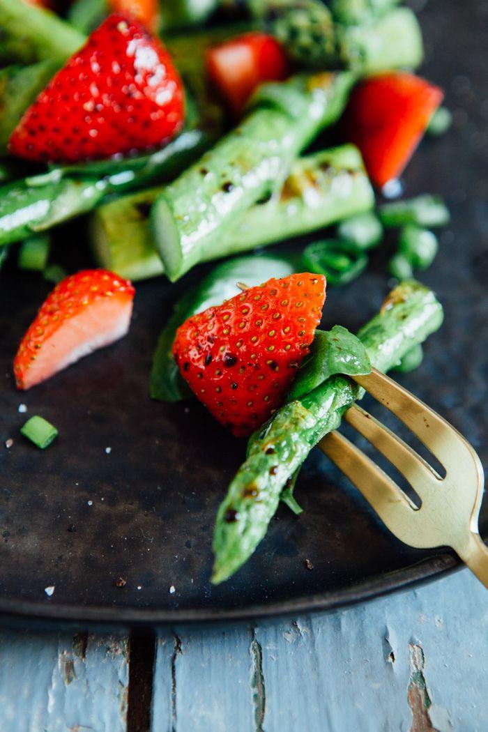 Gruner spargelsalat mit speck