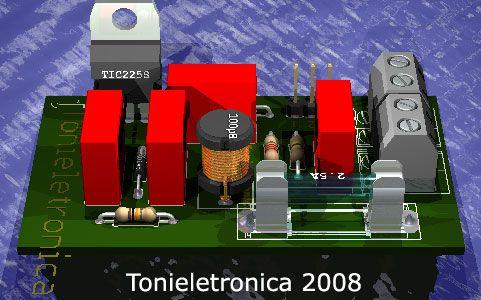 dimmer Dimmer com triac tic225, controle de potência em cargas iluminacao led fontes circuito controle circuito circuito