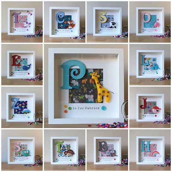 Baby Boy Gift Personalised Aeroplane Box Frame Personalised