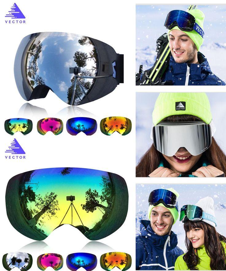 [Visit to Buy] VECTOR Brand Professional Ski Goggles Double Lens UV400 Anti-fog Adult Snowboard Skiing Glasses Women Men Snow Eyewear #Advertisement