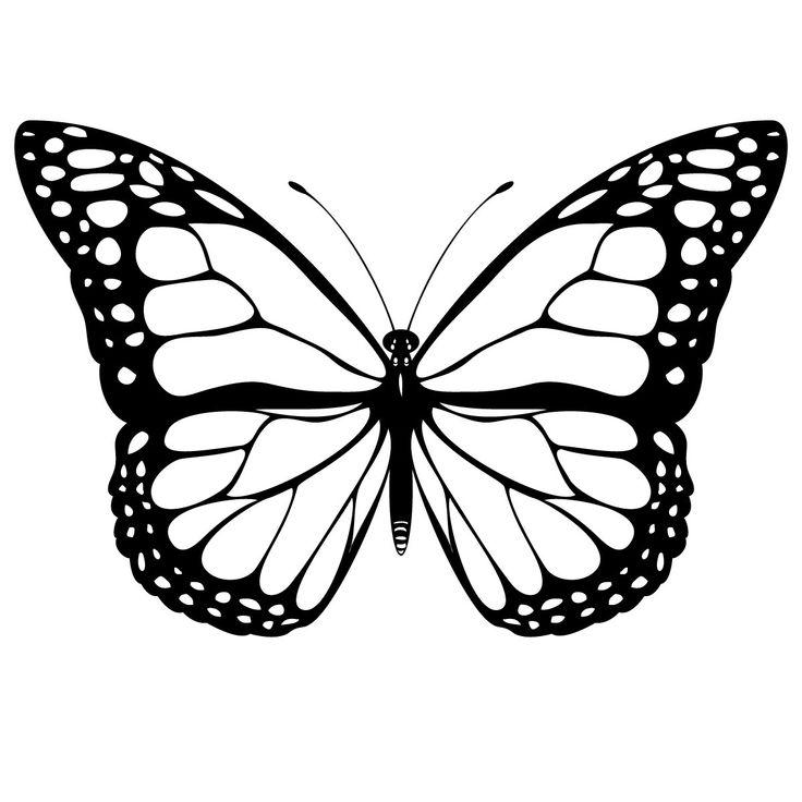 Mariposas Monarcas para colorear Plantillas párr Hacer | tutoriales ...