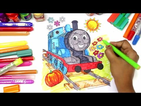 Learn Colors for Children with Thomas the Train | Colours Painting | Learning Video for Toddlers - YouTube