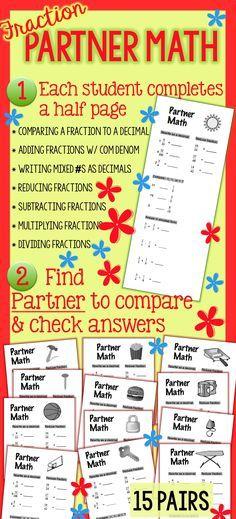 Fractions Partner Math