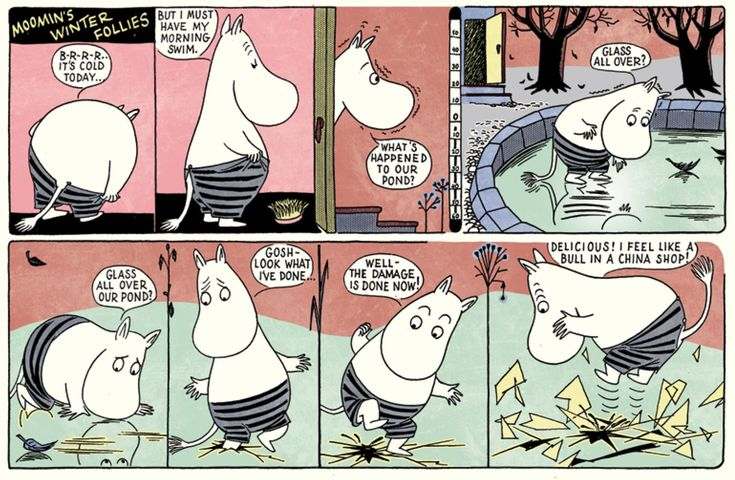 Moomin comic strip books by theeternallyfabulous Tove Jansson: Moomin's Winter Follies